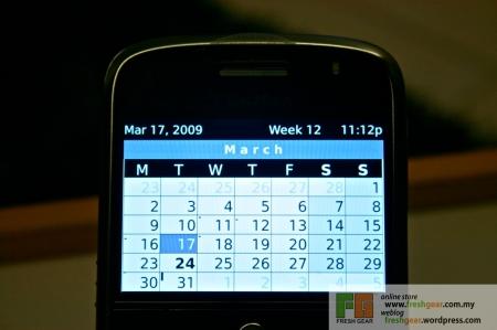 BlackBerry Bold - Calendar